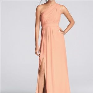David's Bridal Bridesmaids Dress in Peach Bellini